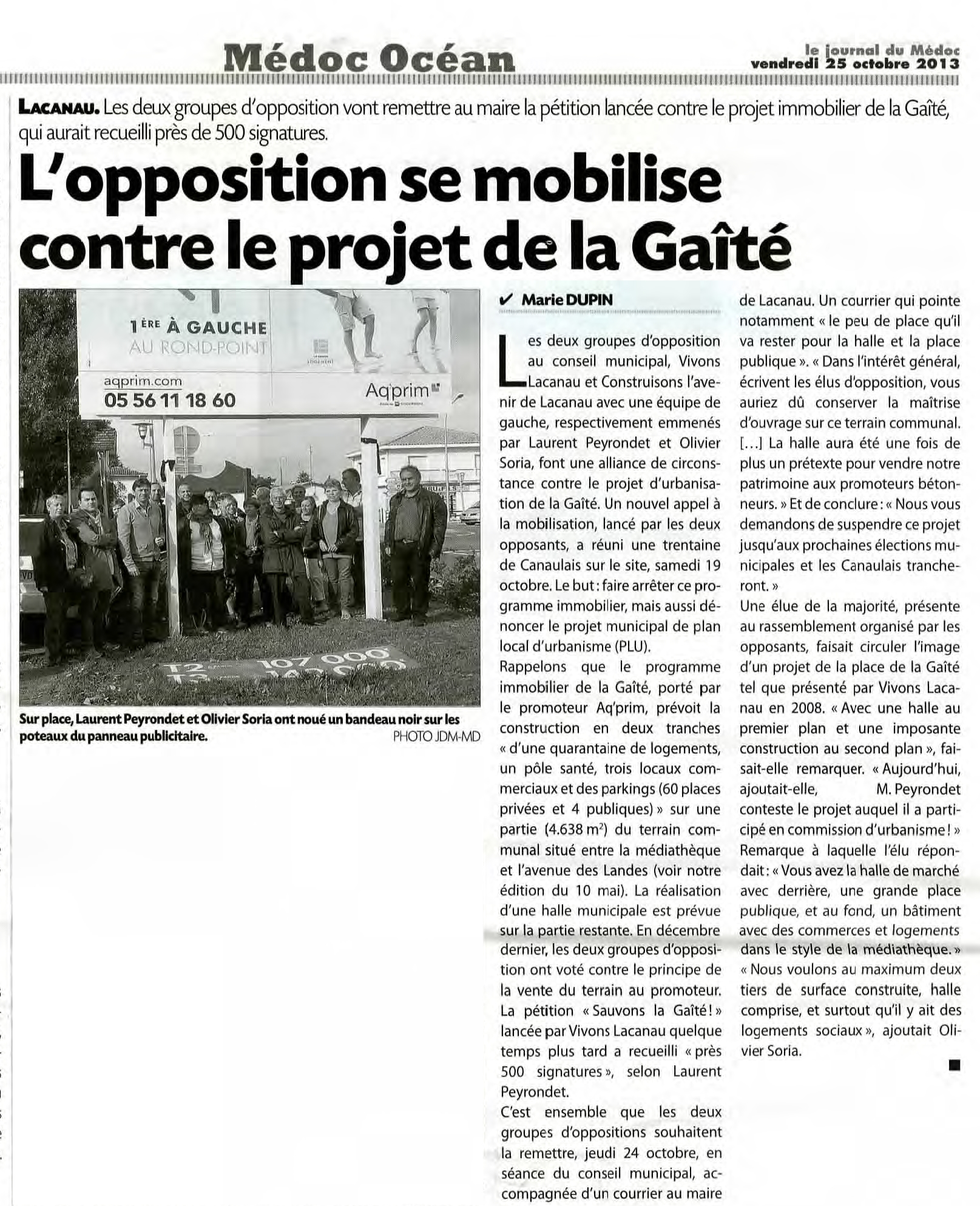articles journal sud ouest medoc